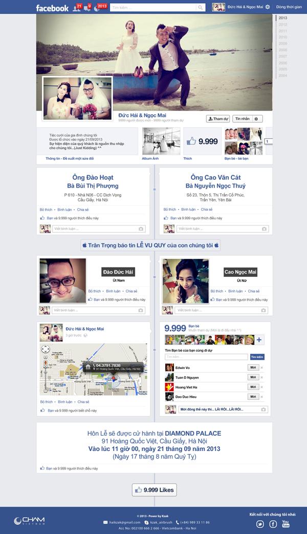 Thiệp cưới facebook, phong bì minions gây sốt