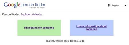 Công cụ tìm kiếm tung tích nạn nhân cơn bão của Google